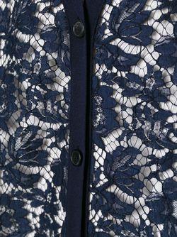 Кардиган С Кружевным Передом Valentino                                                                                                              синий цвет