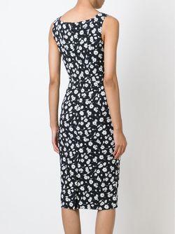 Облегающее Платье С Цветочным Принтом Dolce & Gabbana                                                                                                              чёрный цвет