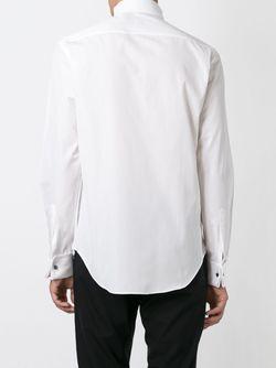 Рубашка С Воротником Стойкой Со Скошенными Концами Armani Collezioni                                                                                                              белый цвет
