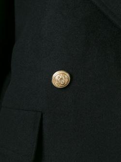 Двубортное Пальто Balmain                                                                                                              чёрный цвет