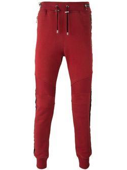 Спортивные Брюки В Байкерском Стиле Balmain                                                                                                              красный цвет