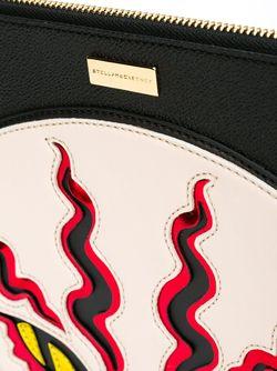 Клатч С Аппликацией Пантеры Stella Mccartney                                                                                                              чёрный цвет