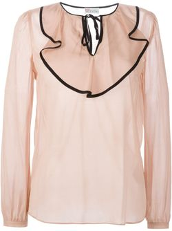 Блузка С Оборками Red Valentino                                                                                                              розовый цвет