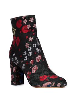 Сапоги С Цветочной Вышивкой Valentino Garavani                                                                                                              черный цвет