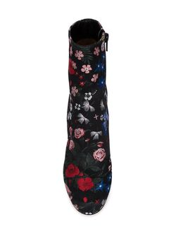 Сапоги С Цветочной Вышивкой Valentino Garavani                                                                                                              чёрный цвет