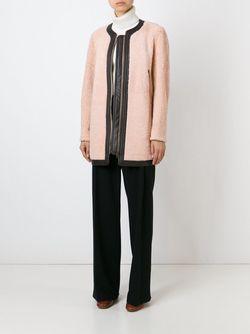 Пальто С Контрастной Окантовкой Chloe                                                                                                              розовый цвет
