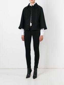 Накидка А-Образного Кроя Saint Laurent                                                                                                              чёрный цвет