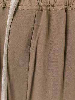 Укороченные Брюки С Заниженной Проймой Rick Owens                                                                                                              Nude & Neutrals цвет