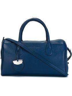 Сумка-Тоут С Плетеной Ручкой Salvatore Ferragamo                                                                                                              синий цвет