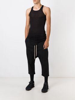 Брюки С Заниженным Шаговым Швом Rick Owens                                                                                                              черный цвет