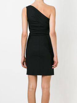 Драпированное Короткое Платье Dsquared2                                                                                                              черный цвет