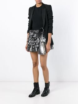 Ruffled Mini Skirt Faith Connexion                                                                                                              черный цвет