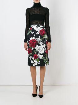 Свитер Ажурной Вязки Dolce & Gabbana                                                                                                              черный цвет