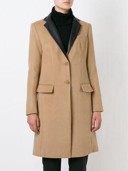 Пальто С Кожаными Лацканами Michael Michael Kors                                                                                                              Nude & Neutrals цвет