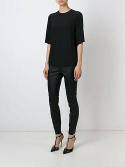 Блузка С Короткими Рукавами Dolce & Gabbana                                                                                                              чёрный цвет