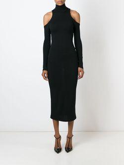 Платье С Вырезными Деталями Balmain                                                                                                              чёрный цвет