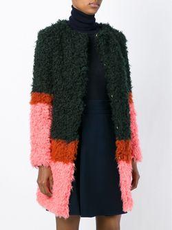 Пальто Дизайна Колор-Блок SHRIMPS                                                                                                              зелёный цвет