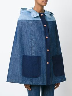 Panelled Denim Cape See By Chloe                                                                                                              синий цвет