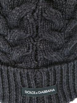 Шапка Вязки Косичкой Dolce & Gabbana                                                                                                              серый цвет