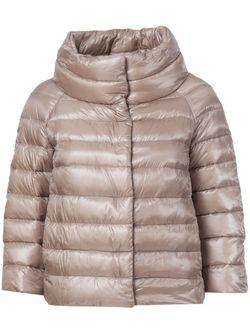 Дутая Куртка С Высоким Воротником Herno                                                                                                              розовый цвет