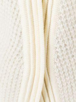 Вязаный Кардиган С Поясом Balmain                                                                                                              белый цвет