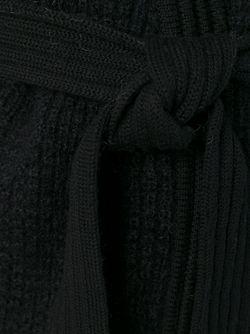 Вязаный Кардиган С Поясом Balmain                                                                                                              чёрный цвет