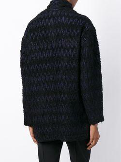 Пальто С Узором Шеврон Isabel Marant                                                                                                              черный цвет