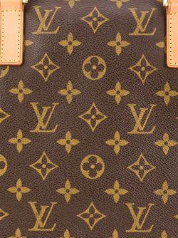 Монограммная Сумка-Тоут LOUIS VUITTON VINTAGE                                                                                                              коричневый цвет