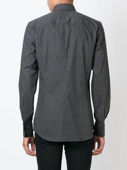 Рубашка С Геометрическим Узором Dolce & Gabbana                                                                                                              серый цвет