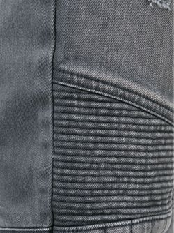 Байкерские Джинсы Balmain                                                                                                              серый цвет