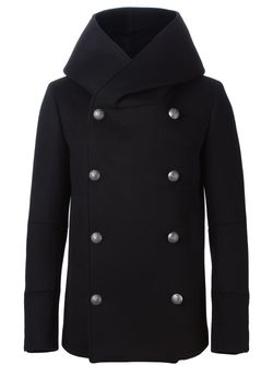 Пальто С Капюшоном Balmain                                                                                                              черный цвет
