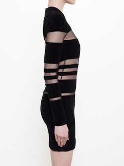 Sheer Stripe Dress Balmain                                                                                                              черный цвет