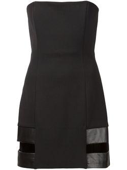 Платье Без Бретелек С Вырезными Деталями Anthony Vaccarello                                                                                                              черный цвет