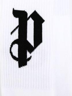 Носки С Логотипом PALM ANGELS                                                                                                              белый цвет