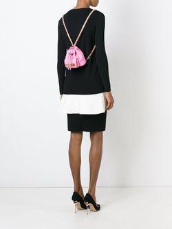 Рюкзак Мини С Логотипом Moschino                                                                                                              розовый цвет