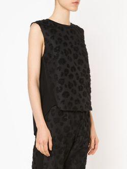 Топ С Однотонным Леопардовым Рисунком 3.1 Phillip Lim                                                                                                              черный цвет
