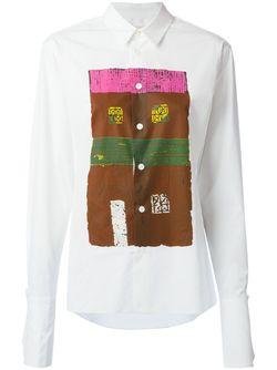 Рубашка С Принтом В Виде Дома Marni                                                                                                              белый цвет