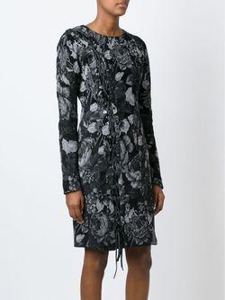 Жаккардовое Платье 152 Decision A.F.Vandevorst                                                                                                              серый цвет