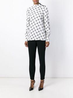 Блузка С Цветочным Узором Dolce & Gabbana                                                                                                              белый цвет