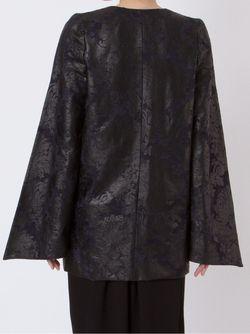 Print Plunging Neck Coat FERNANDA YAMAMOTO                                                                                                              чёрный цвет