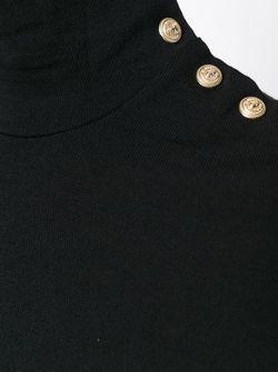 Свитер С Высоким Горлышком Balmain                                                                                                              черный цвет