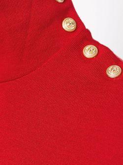 Свитер С Высоким Горлышком Balmain                                                                                                              красный цвет