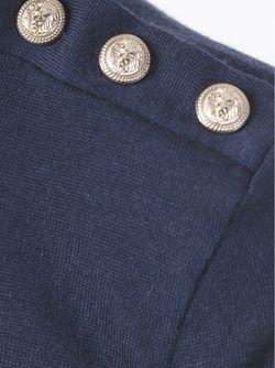 Свитер С Декоративными Пуговицами Balmain                                                                                                              синий цвет