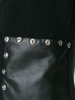 Кардиган С Панелями Из Овечьей Кожи Emanuel Ungaro                                                                                                              чёрный цвет