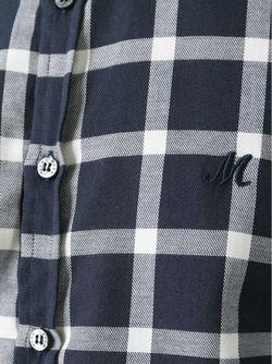 Рубашка В Клетку MSGM                                                                                                              синий цвет