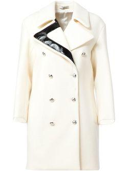 Двубортное Пальто Bouchra Jarrar                                                                                                              белый цвет