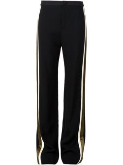 Contrast Stripe Slim Fit Trousers Bouchra Jarrar                                                                                                              чёрный цвет