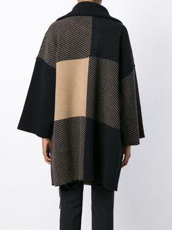 Пальто С Бахромой И Панельным Дизайном Chloe                                                                                                              черный цвет