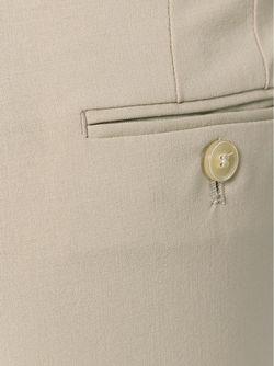 Укороченные Брюки Со Складками Спереди Armani Collezioni                                                                                                              Nude & Neutrals цвет