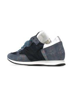 Кроссовки С Контрастными Панелями Philippe Model                                                                                                              синий цвет